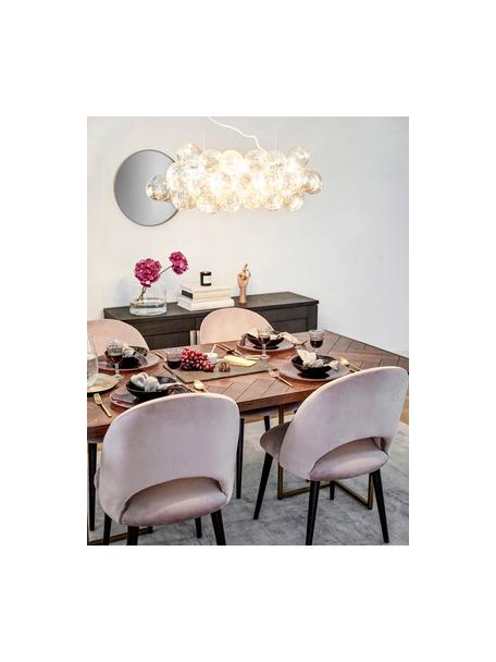 Grote hanglamp met glazen bollen Gross Bar, Amberkleurig, 80 x 36 cm