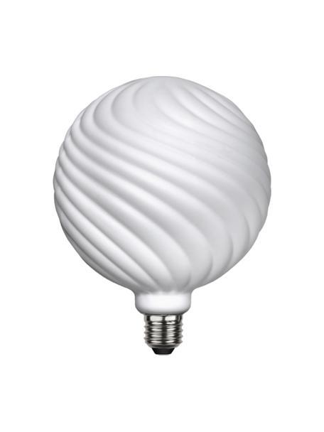 Bombilla regulable E27, 550lm, blanco cálido, 1ud., Ampolla: vidrio, Casquillo: aluminio, Blanco, Ø 15 x Al 19 cm