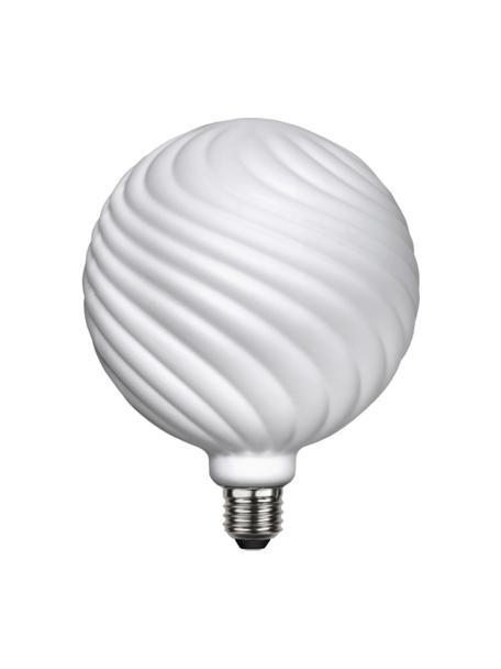 Lampadina E27, 550lm, dimmerabile, bianco caldo, 1 pz, Lampadina: vetro, Bianco, Ø 15 x Alt. 19 cm