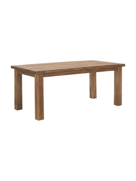 Stół do jadalni z litego drewna Bois, Lite drewno tekowe, surowe, Drewno tekowe, S 180 x G 90 cm