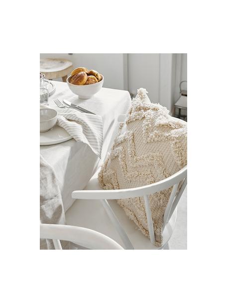 Funda de cojín Akesha, estilo boho, 100%algodón, Crudo, An 45 x L 45 cm