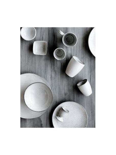 Handgemaakte beker Nordic zand van keramiek, 6 stuks, Keramiek, Zandkleurig, Ø 8 x H 10 cm
