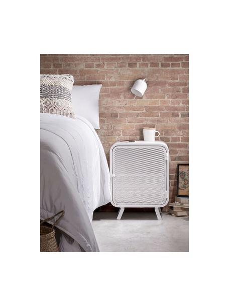 Wit nachtkastje Rita van metaal, Gelakt metaal, Wit, 42 x 54 cm