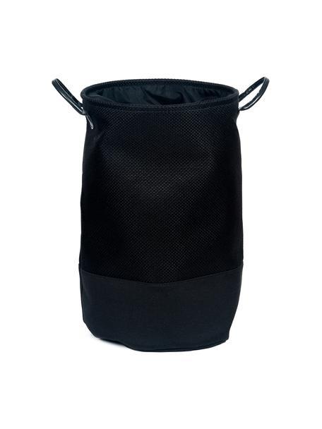 Kosz na pranie Camberwell, Poliester, Czarny, Ø 35 x W 55 cm