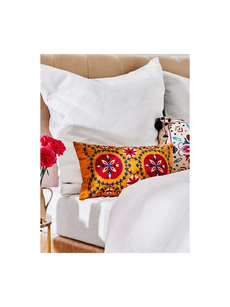 Haftowana  poszewka na poduszkę Tabula, 100% bawełna, Żółty, wielobarwny, S 30 x D 50 cm