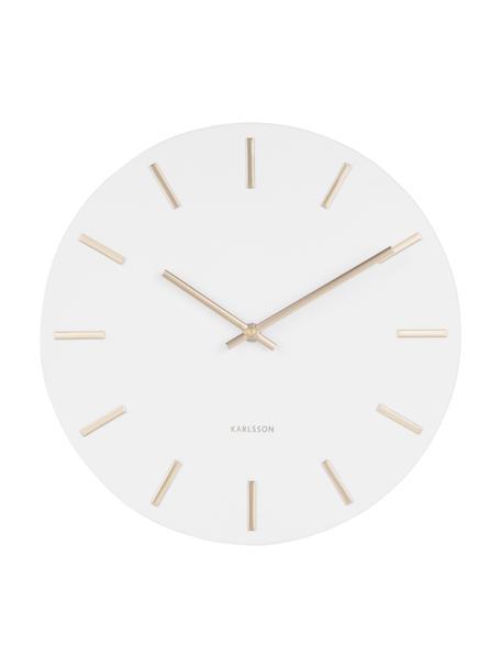 Reloj de pared grande Charm, Acero, pintado, Blanco, Ø 45