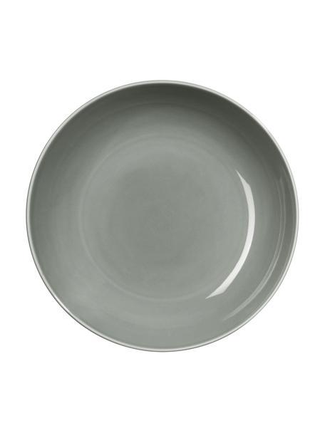 Porzellan-Suppenteller Kolibri in Grau glänzend, 6 Stück, Porzellan, grau, Ø 24 cm