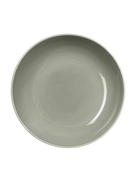 Platos hondos de porcelana Kolibri, 6uds., Porcelana, Gris, Ø 24 cm