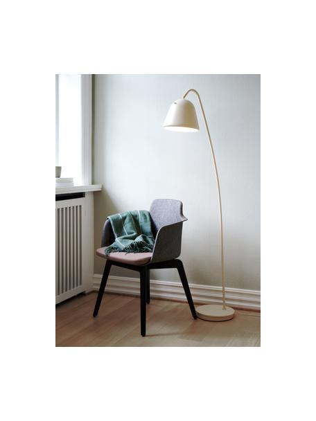 Leeslamp Fleur, Lampenkap: gecoat metaal, Lampvoet: gecoat metaal, Decoratie: metaal, Beige, 27 x 148 cm