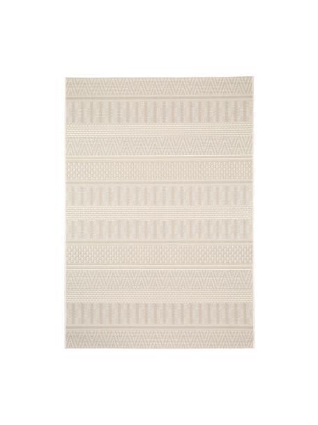 In- & outdoor vloerkleed Naoto met een subtiel  ethno patroon, 100% polypropyleen, Crèmekleurig, lichtbeige, B 120 x L 170 cm (maat S)