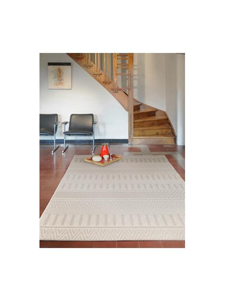 In- & Outdoor-Teppich Naoto mit dezentem Ethnomuster, 100% Polypropylen, Creme, Hellbeige, B 120 x L 170 cm (Größe S)