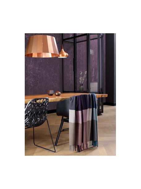 Plaid in cashmere Variation Purple, 80% lana, 20% cashmere, Multicolore, Larg. 130 x Lung. 170 cm
