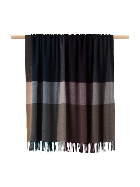 Coperta in cashmere Variation Purple, 80% lana, 20% cashmere, Multicolore, Larg. 130 x Lung. 170 cm
