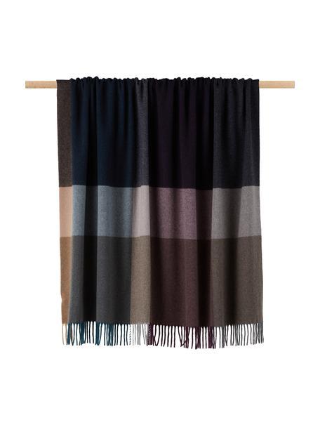 Kaschmirdecke Variation Purple, 80% Wolle, 20% Kaschmir, Mehrfarbig, 130 x 170 cm