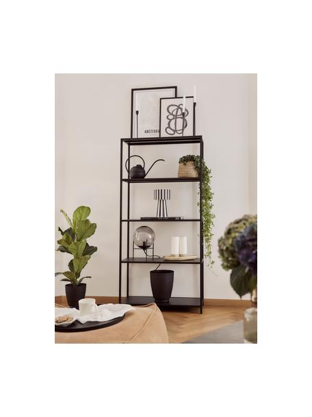 Regadera Plant, Acero, Negro, An 37 x Al 22 cm