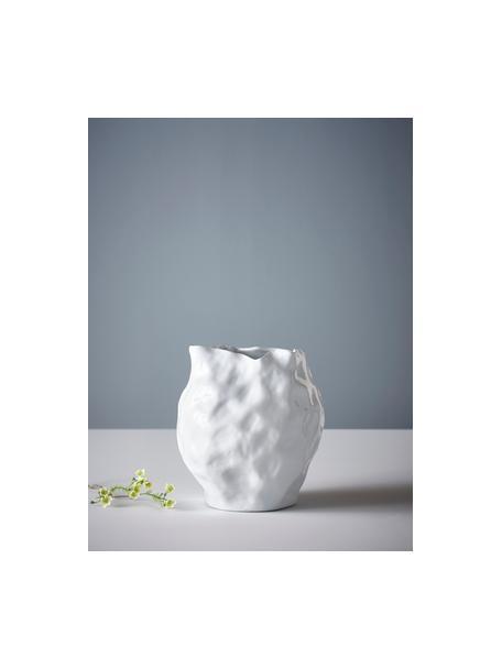 Vaso bianco di design Bubba, Gres, Bianco, Ø 27 x Alt. 31 cm
