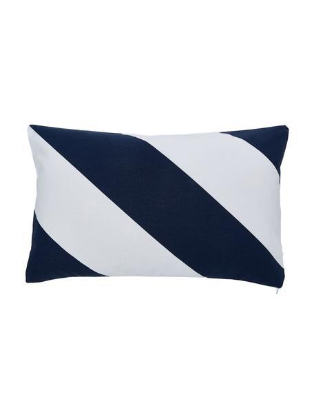 Poszewka na poduszkę Ren, 100% bawełna, Biały, ciemnyniebieski, S 30 x D 50 cm