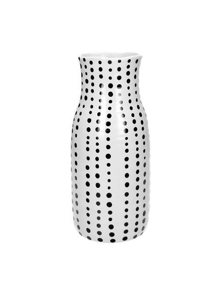 Vaso in gres Pond, Gres, Bianco, nero, Ø 13 x Alt. 28 cm