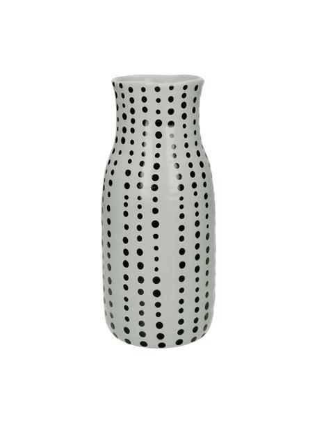 Vase Pond aus Steingut, Steingut, Grau, Schwarz, Ø 13 x H 28 cm