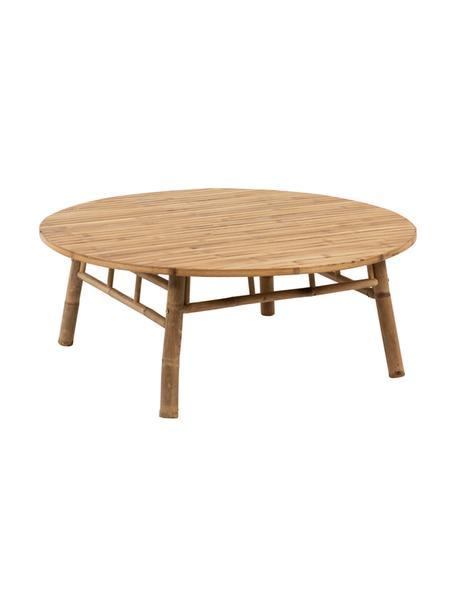 Tavolo da esterno in bambù Bindi, Bambù naturale, Legno di bambù, Ø 120 x Alt. 46 cm