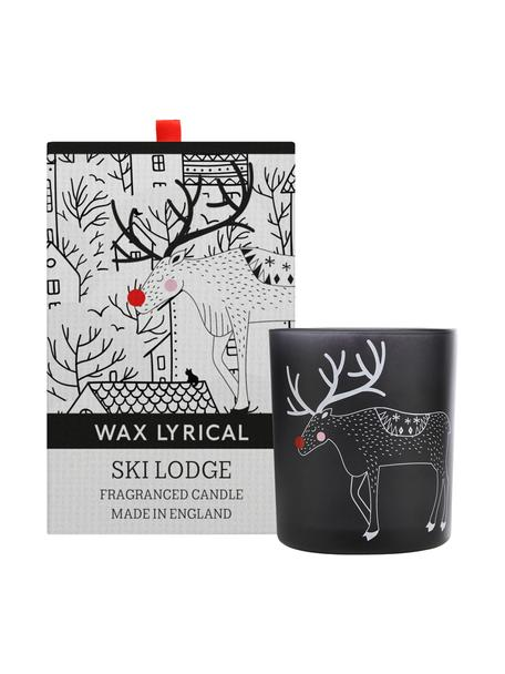 Candela profumata Ski Lodge (mirtilli rossi, gelsi, patchuli), Contenitore: vetro, Bianco, Ø 8 x Alt. 10 cm