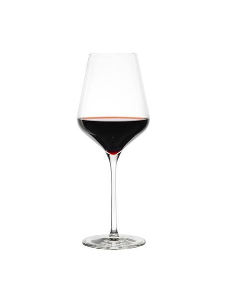 Kieliszek do czerwonego wina ze szkła kryształowego Quatrophil, 6 szt., Szkło kryształowe, Transparentny, Ø 10 x W 25 cm