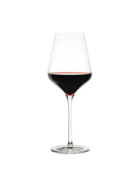 Kristallen rode wijnglazen Quatrophil, 6 stuks, Kristalglas, Transparant, Ø 10 x H 25 cm
