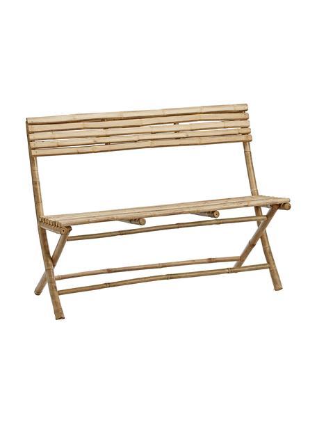 Ławka ogrodowa z drewna bambusowego Mandisa, Drewno bambusowe, surowe, Drewno bambusowe, S 120 x G 33 cm