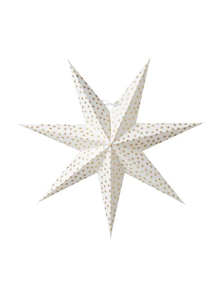 Ręcznie wykonana gwiazda świąteczna Asta, Papier, Biały, odcienie złotego, Ø 60 cm