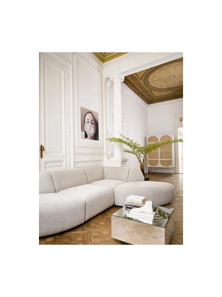 Oggetto decorativo Foot, Resina, polvere di marmo, Bianco crema, Larg. 28 x Alt. 15 cm