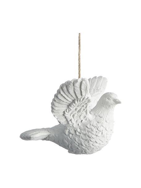 Bruchfeste Baumanhänger Dove, 2 Stück, Weiß, 9 x 6 cm