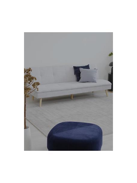 Sofá cama Amelie, plegable, Tapizado: poliéster Alta resistenci, Estructura: madera de pino Densidad 3, Patas: madera de caucho, Tejido gris claro, An 200 x Al 79 cm