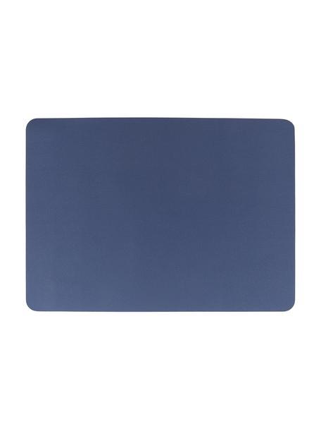 Kunstleren placemats Asia, 2 stuks, Kunstleer (PVC), Marineblauw, 33 x 46 cm