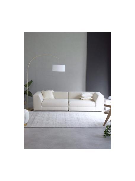 Modulaire bank Grant (3-zits) in beige, Bekleding: katoen, Frame: sparrenhout, Poten: massief gelakt beukenhout, Geweven stof beige, B 266 x D 106 cm