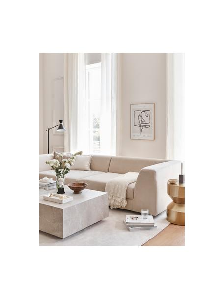 Modulares Sofa Grant (3-Sitzer) in Beige, Bezug: Baumwolle 20.000 Scheuert, Gestell: Fichtenholz, Webstoff Beige, B 266 x T 106 cm