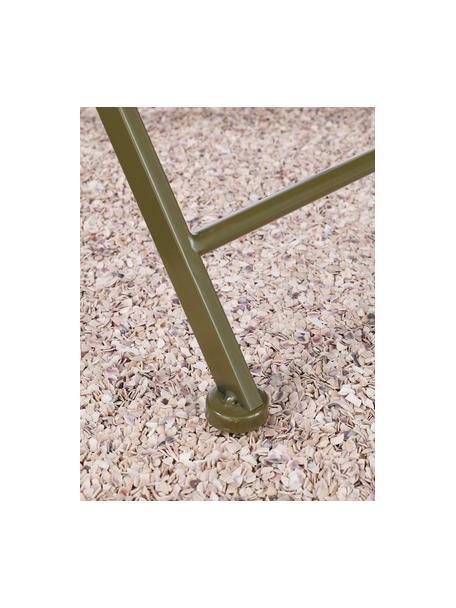 Tavolo da balcone pieghevole Ninet, Metallo rivestito, Verde, Ø 60 x Alt. 70 cm