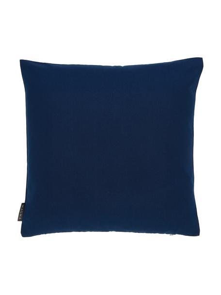 Funda de cojín para exterior Blopp, Dralon (100%poliacrílico), Azul oscuro, An 45 x L 45 cm