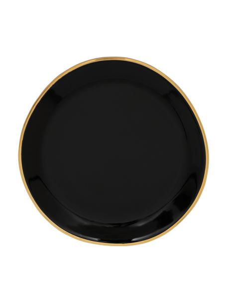 Platitos Good Morning, 2uds., Gres, Negro, dorado, Ø 9 cm