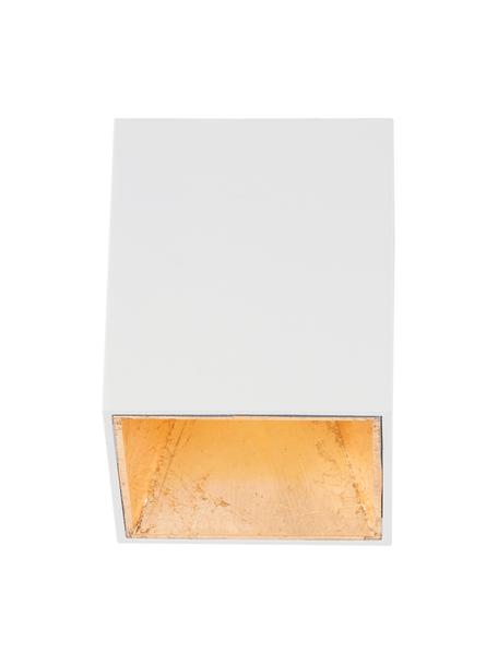 LED plafondspot Marty in wit-goudkleurig met antieke afwerking, Wit, goudkleurig, 10 x 12 cm