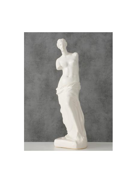 Deko-Objekt Lorenza, Steingut, Weiß, 12 x 41 cm