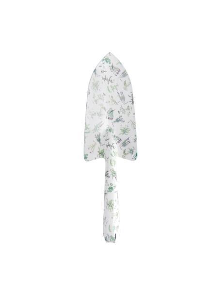 Kielnia do kwiatów Herbs, Stal miękka, powlekana, Biały, zielony, S 8 x W 28 cm