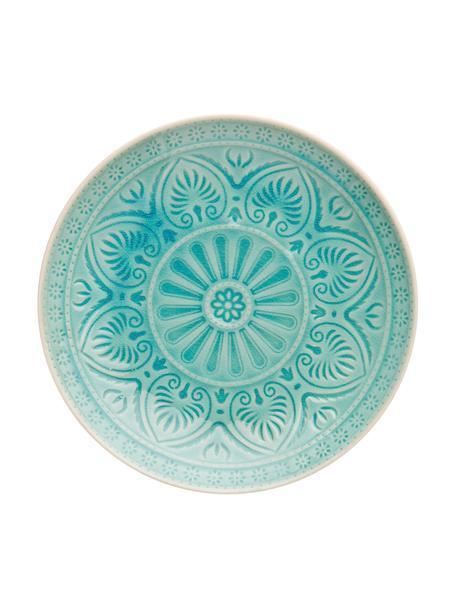 Piatto piano Sumatra, Terracotta, Turchese, Ø 25 cm