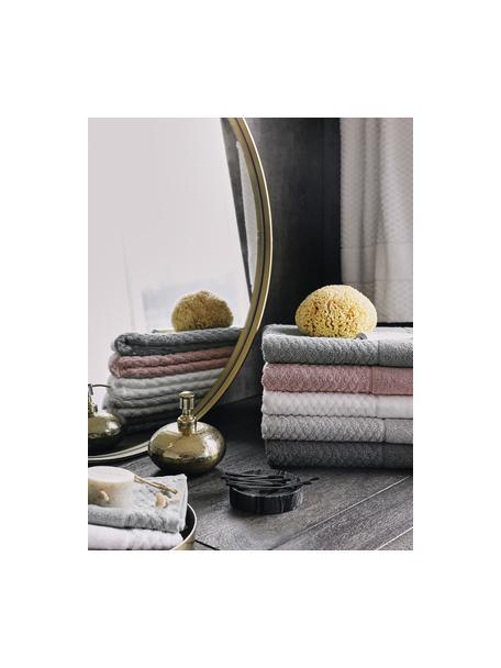 Handdoek Katharina in verschillende formaten, met honingraatpatroon, Oudroze, Douchehanddoek