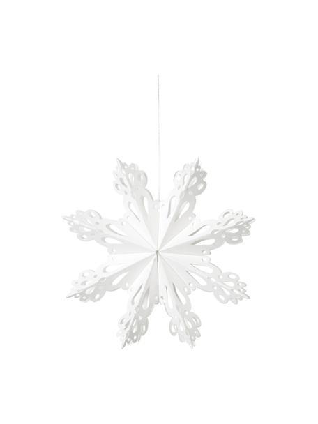 Adorno para colgar copo de nieve Snowflake, Papel, Blanco, Ø 15 cm