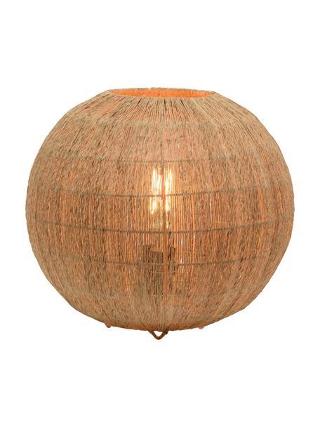 Lámpara de mesa pequeña de yute Iguazú, Pantalla: yute, Cable: cubierto en tela Las fibr, Beige, Ø 35 x Al 35 cm