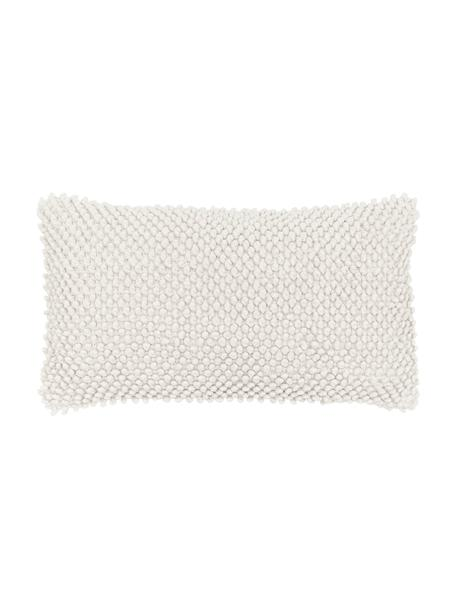 Poszewka na poduszkę ze strukturalną powierzchnią Indi, 100% bawełna, Złamana biel, S 30 x D 50 cm