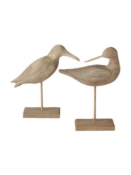 Komplet dekoracji z drewno paulownia Belua , 2 elem., Drewno paulownia, Brązowy, S 23 x W 33 cm