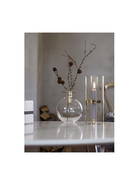 Wazon ze szkła Aniela, Srebrny, transparentnyny, Odcienie mosiądzu, transparentny, Ø 14 x W 18 cm