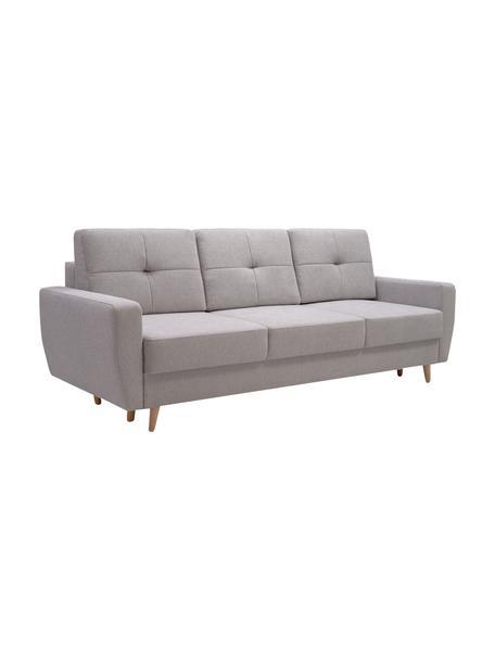 Sofá cama Bueno (3 plazas), con espacio de almacenamiento, Tapizado: 100%poliéster, Gris, An 231 x F 92 cm