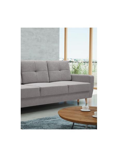 Sofa z funkcją spania i miejscem do przechowywania Bueno (3-osobowa), Tapicerka: 100% poliester, Szary, S 231 x G 92 cm